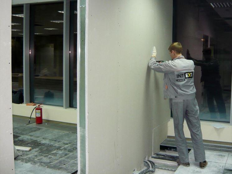 Installazione pareti cartongesso
