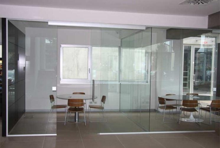 parete divisoria trasparente
