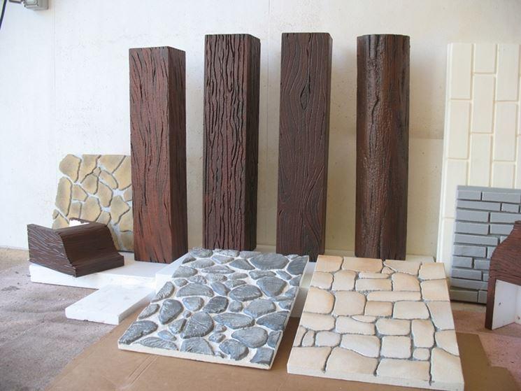 Diverse tipologie di pannelli in finta pietra