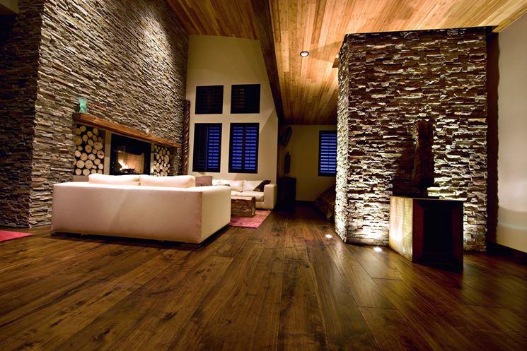 Realizzare pareti in pietra - Le Pareti - Lavori fai da te: realizzare pareti in pietra