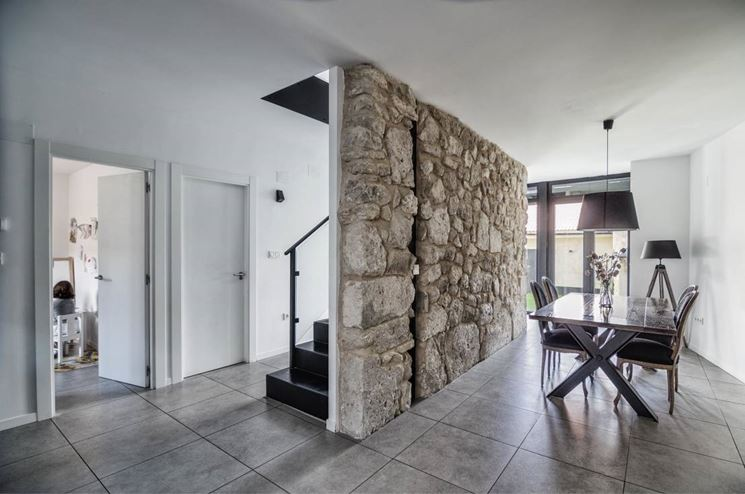 Rivestimento parete in pietra