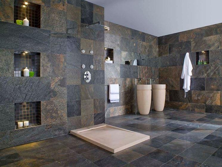 Rivestimenti per bagno le pareti rivestimenti bagno - Bagno rivestimento pietra ...