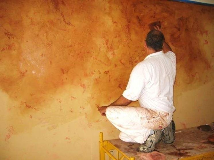 lavorazione stucco