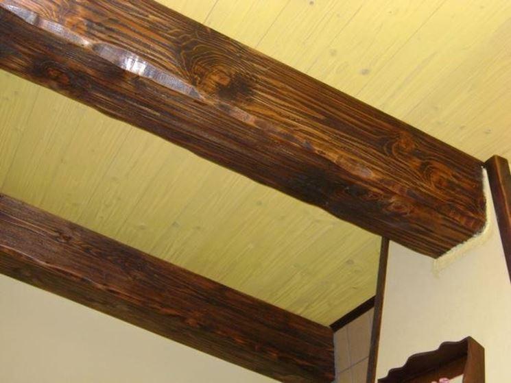 Affordable soffitti in legno finto dimensioni travi in legno scelta quali with travi per soffitto - Dimensionamento scale interne ...