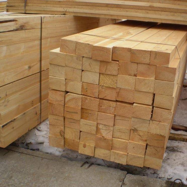 travi in legno lamellato
