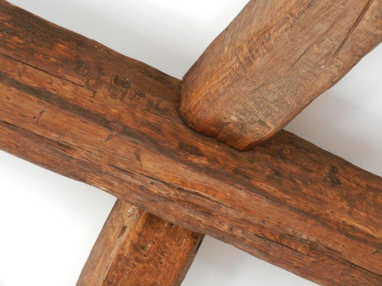 Trave in finto legno