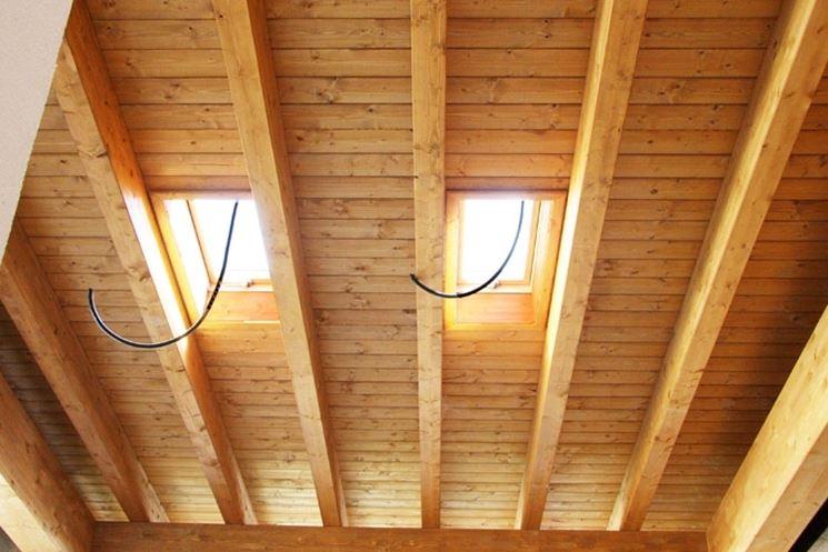 Plafoniere Per Travi In Legno : Controsoffitti legno lamellare cose da sapere prima di progettare