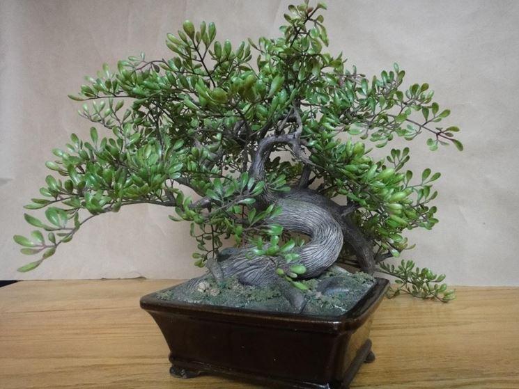 bonsai artificiale completo